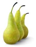 αχλάδια τρία στοκ εικόνες με δικαίωμα ελεύθερης χρήσης