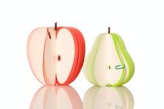 αχλάδι εγγράφου μήλων Στοκ Εικόνα