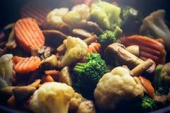 Αχνιστά καυτά λαχανικά Στοκ εικόνα με δικαίωμα ελεύθερης χρήσης