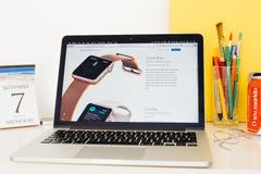 Δαχτυλίδια δραστηριότητας επίδειξης ιστοχώρου υπολογιστών της Apple, Στοκ φωτογραφία με δικαίωμα ελεύθερης χρήσης
