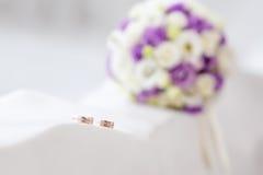 δαχτυλίδια δύο γάμος Στοκ Φωτογραφίες