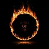 δαχτυλίδι πυρκαγιάς Στοκ Φωτογραφίες
