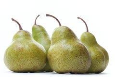 Αχλάδια και ένα μήλο στο λευκό Στοκ Φωτογραφία