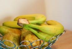 αχλάδια μπανανών Στοκ εικόνα με δικαίωμα ελεύθερης χρήσης