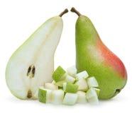 Αχλάδια που απομονώνονται πέρα από το λευκό Στοκ Εικόνα