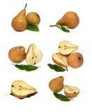 Αχλάδια που απομονώνονται στα άσπρα τρόφιμα υποβάθρου Στοκ Εικόνες
