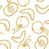 αχλάδια πρότυπο καρπού άνευ ραφής επίσης corel σύρετε το διάνυσμα απεικόνισης Στοκ Φωτογραφίες