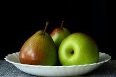 αχλάδια τρία στοκ εικόνα