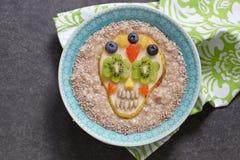 Αχλάδι ζάχαρης scull με oatmeal Στοκ φωτογραφία με δικαίωμα ελεύθερης χρήσης