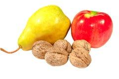 Αχλάδι και ξύλα καρυδιάς της Apple Στοκ Εικόνα