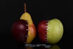 Αχλάδι OGM της Apple Στοκ φωτογραφίες με δικαίωμα ελεύθερης χρήσης