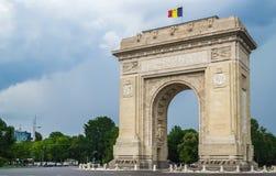 Αψίδα θριάμβου στο Βουκουρέστι Ρουμανία στοκ φωτογραφίες