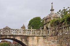 Αψίδα και γέφυρα Cambados Pontevedra Γαλικία Ισπανία στοκ εικόνα με δικαίωμα ελεύθερης χρήσης