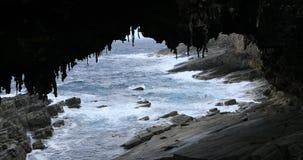 Αψίδα ναυάρχου στο νησί καγκουρό, Αυστραλία 4K απόθεμα βίντεο