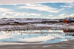 Αψίδα σινούκ πέρα από τον τομέα, κομητεία Stettler, Αλμπέρτα, Καναδάς Στοκ Φωτογραφία