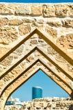 Αψίδα στο οχυρό του Μπαχρέιν Μια περιοχή παγκόσμιων κληρονομιών της ΟΥΝΕΣΚΟ Στοκ Φωτογραφία