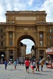 Αψίδα του θριάμβου στη Φλωρεντία - την Ιταλία Στοκ Φωτογραφία