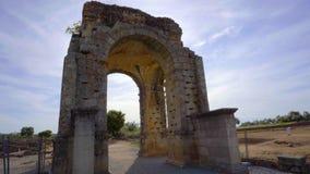 Αψίδα Caparra, αρχαία ρωμαϊκή πόλη Caparra σε Εστρεμαδούρα, Ισπανία απόθεμα βίντεο