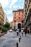 Αψίδα Cuchilleros στο δήμαρχο Plaza της Μαδρίτης Στοκ Εικόνα