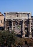 Αψίδα Severus Septimus, ρωμαϊκό φόρουμ, Ρώμη. Στοκ φωτογραφίες με δικαίωμα ελεύθερης χρήσης
