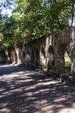 Αψίδες στους λόγους του παλατιού ανάπαυσης Mon στην Κέρκυρα Ελλάδα Στοκ φωτογραφία με δικαίωμα ελεύθερης χρήσης
