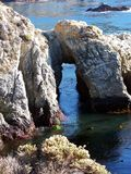 Αψίδα βράχου στο σημείο Lobos, Καλιφόρνια Στοκ φωτογραφίες με δικαίωμα ελεύθερης χρήσης