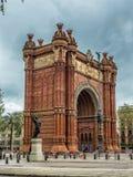 Αψίδα θριάμβου της Βαρκελώνης, Ισπανία Στοκ Φωτογραφία