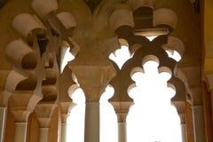Αψίδα Μάλαγα Alcazaba Στοκ εικόνα με δικαίωμα ελεύθερης χρήσης