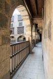 Αψίδα με τα ξύλινα κιγκλιδώματα, caravansary Wikala Bazaraa, Κάιρο, Αίγυπτος Στοκ Εικόνα