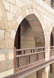 Αψίδα με τα ξύλινα κιγκλιδώματα, caravansery Wikala Al-Ghuri, Στοκ Εικόνες