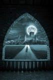 Αψίδα νύχτας φαντασίας Στοκ Φωτογραφία