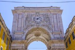 Αψίδα οδών του Αουγκούστα αποκαλούμενο η Λισσαβώνα Arco DA Rua Αουγκούστα Στοκ φωτογραφίες με δικαίωμα ελεύθερης χρήσης