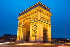 αψίδα Παρίσι θριαμβευτικό Στοκ φωτογραφία με δικαίωμα ελεύθερης χρήσης