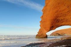Αψίδα πετρών παραλιών Legzira Στοκ εικόνες με δικαίωμα ελεύθερης χρήσης