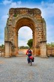 Αψίδα Ρωμαίος Caparra στην Ισπανία Εστρεμαδούρα Στοκ Φωτογραφίες