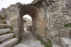 Αψίδα σε Antonine Thermae, Τυνησία, Τυνησία Στοκ Φωτογραφίες
