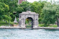 Αψίδα σε Boldt Castle, νησί καρδιών, κόλπος της Αλεξάνδρειας, Νέα Υόρκη στοκ φωτογραφίες με δικαίωμα ελεύθερης χρήσης