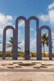 Αψίδα στην παραλία Atalaia, Aracaju, κράτος Sergipe, Βραζιλία Στοκ Εικόνες