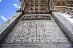 Αψίδα του θριάμβου Παρίσι Στοκ φωτογραφία με δικαίωμα ελεύθερης χρήσης