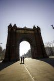 Αψίδα του θριάμβου στη Βαρκελώνη, Ισπανία στοκ φωτογραφία