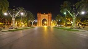 Αψίδα του θριάμβου στη Βαρκελώνη, Ισπανία φιλμ μικρού μήκους