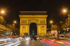 Αψίδα του θριάμβου του αστεριού (Arc de Triomphe de l'Etoile) στο Παρίσι (Γαλλία) Στοκ Εικόνες