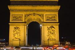 Αψίδα του θριάμβου του αστεριού (Arc de Triomphe de l'Etoile) στο Παρίσι (Γαλλία) Στοκ φωτογραφίες με δικαίωμα ελεύθερης χρήσης