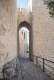 Αψίδα του πύργου σε Santa Catalina Castle στο Jae'n στοκ εικόνες