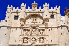 Αψίδα του Burgos Arco de Σάντα Μαρία στην Καστίλλη Ισπανία Στοκ φωτογραφίες με δικαίωμα ελεύθερης χρήσης