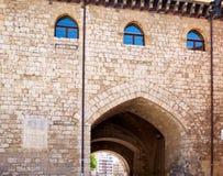 Αψίδα του Burgos Arco de Σάντα Μαρία στην Καστίλλη Ισπανία Στοκ φωτογραφία με δικαίωμα ελεύθερης χρήσης