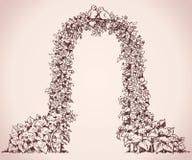 Αψίδα των λουλουδιών Διανυσματικό σκίτσο Στοκ φωτογραφία με δικαίωμα ελεύθερης χρήσης