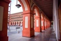 Αψίδες Plaza de Λα Corredera, rdoba CÃ ³ Στοκ φωτογραφία με δικαίωμα ελεύθερης χρήσης