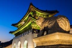 λαϊκό εθνικό παλάτι μουσείων της Κορέας gyeongbokgung Στοκ Εικόνα