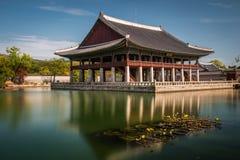 λαϊκό εθνικό παλάτι μουσείων της Κορέας gyeongbokgung Στοκ Φωτογραφία